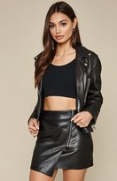 KENDALL + KYLIE Kendall & Kylie Faux Leather Asymmetrical Skirt