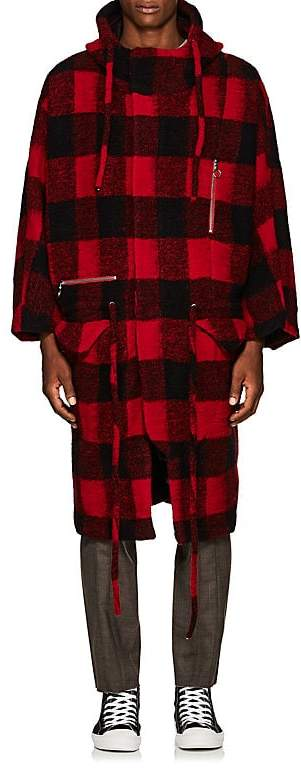 Chapter MEN'S BUFFALO-CHECKED WOOL-BLEND COAT