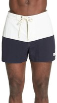 Saturdays Nyc Men's 'Ennis 4' Colorblock Board Shorts