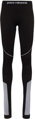 Paco Rabanne Panelled Logo-Detailed Leggings