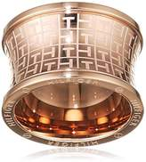 Tommy Hilfiger Women's Rose Gold-Plated Stainless-Steel Waist Jacquard Print Ring - Size B