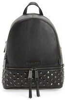 MICHAEL Michael Kors Medium Rhea Zip Studded Leather Backpack - Black