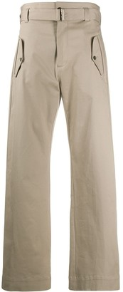 Paul & Shark High-Waisted Belted Trousers