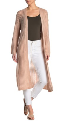 Johnny Was Cashmere Open Front Long Cardigan