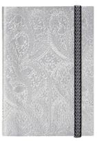 Christian Lacroix Embossed Silvertone Notebook