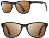 Shwood Men's Canby 54Mm Polarized Pine Cone & Titanium Sunglasses - Black/ Pinecone/ Brown