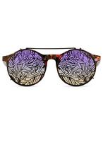 Matthew Williamson Purple Sunrise Sunglasses with Clip-On Frames