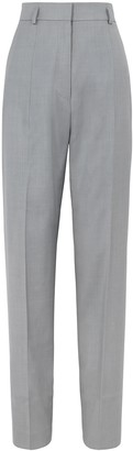 Petar Petrov Helah Grey Straight-leg Trousers