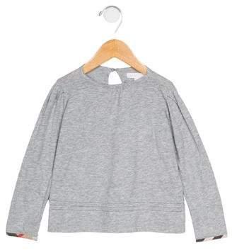 Burberry Girls' Long Sleeve Knit T-Shirt w/ Tags