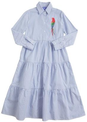 Stella Jean STRIPED COTTON POPLIN DRESS