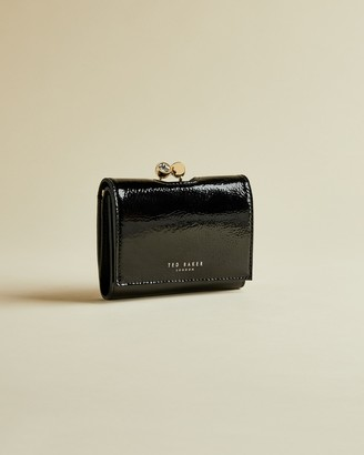 Ted Baker EMEEY Patent leather mini bobble clasp purse