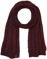 Wrangler Men's Cable Rhubarb Red Scarf