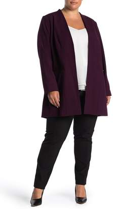 Calvin Klein Open Front Long Jacket (Plus Size)
