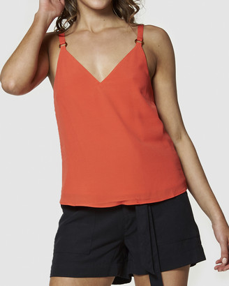 Amelius - Women's Red Workwear Tops - Spell Cami - Size One Size, 6 at The Iconic
