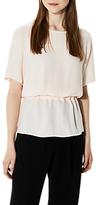 Selected Tanna Short Sleeve Top, Creme De Peche