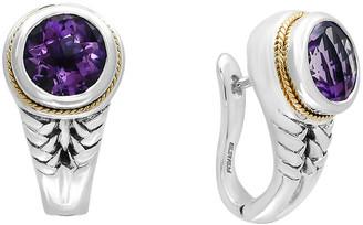 Effy Fine Jewelry Silver & 18K 3.33 Ct. Tw. Amethyst Earrings