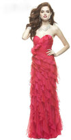 Janique - Luscious Ruffled Strapless Gown J149