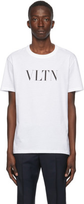 Valentino White and Black VLTN T-Shirt