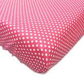One Grace Place Simplicity Hot Pink Crib Sheet, Hot Pink and White by