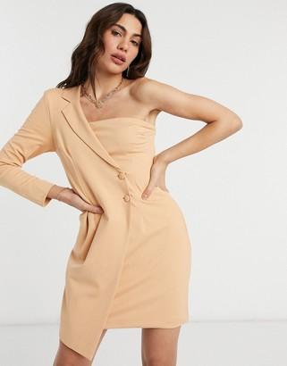 UNIQUE21 one shoulder tuxedo dress