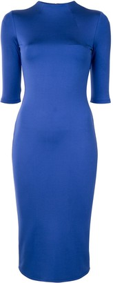 Alice + Olivia Fitted Midi Dress