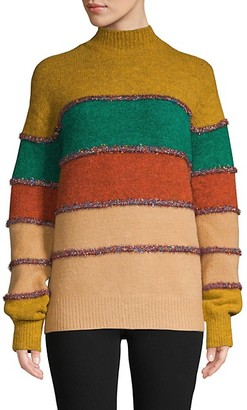 Allison New York Multicolored Stripe Sweater