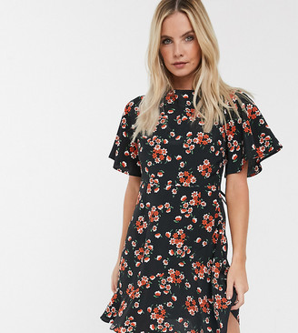 Fashion Union Petite mini dress in vintage floral