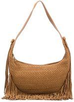 Elizabeth and James basketweave effect fringed shoulder bag - women - Leather - One Size