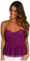 Juicy Couture Chiffon Top with Cutout Back