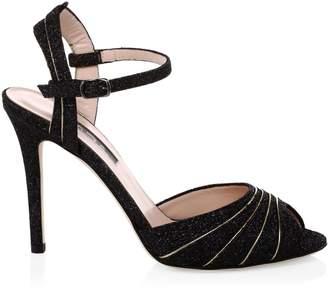 Sarah Jessica Parker Monroe Glitter Peep-Toe Heels