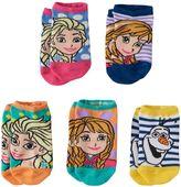 Disney Disney's Frozen Anna, Elsa & Olaf Girls 5-pk. No-Show Socks
