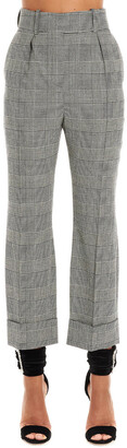 Alexandre Vauthier Checked Cropped Pants