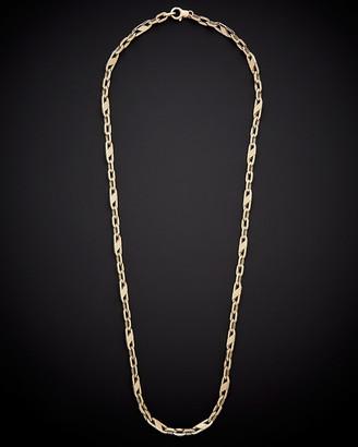 Italian Gold 14K Fancy Mariner Link Necklace