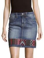 Miss Me High-Rise Cotton Skirt