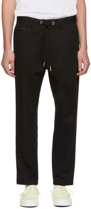 Diesel Black P Morgan Drawstring Trousers