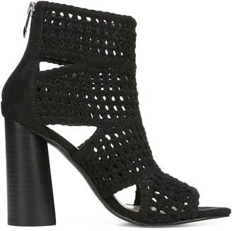 Fergie Lucia Woven Suede Booties