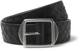 Bottega Veneta - 3.5cm Black Intrecciato Leather Belt