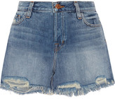 J Brand Ivy Distressed Denim Shorts - Mid denim