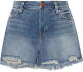 J Brand Ivy Distressed Denim Shorts - Mid denim