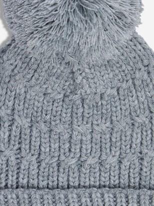 Dorothy Perkins Chunky Knit Pom Pom Hat - Grey