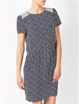 Collection WEEKEND by John Lewis Sketchy Hearts Dress, Navy/Cream