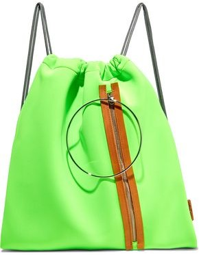 Maison Margiela Faux Leather-trimmed Neon Neoprene Backpack