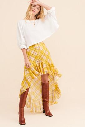 Rococo Sand Plaid Waterfall Skirt