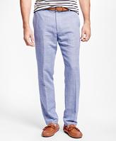 Brooks Brothers Clark Fit Linen and Cotton Glen Plaid Pants