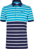 Rlx Ralph Lauren - Two-tone Striped Stretch-piqué Polo Shirt