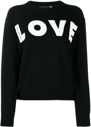 Love Moschino relaxed-fit 'LOVE' jumper