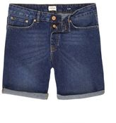 River Island Dark Blue Wash Slim Fit Denim Shorts