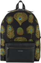 Alexander McQueen peacock weave backpack - men - Cotton/Leather - One Size