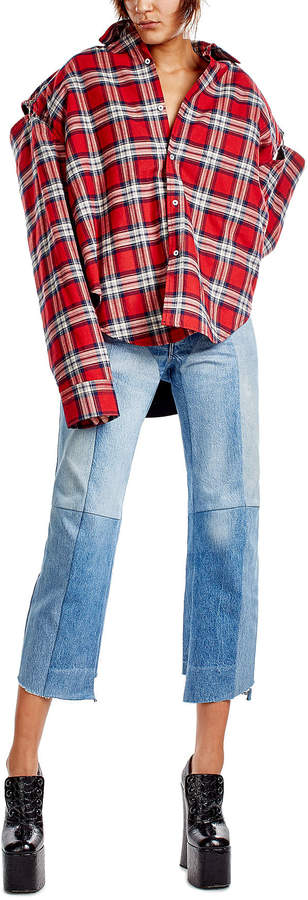 Vetements Straight Leg Patchwork Jeans