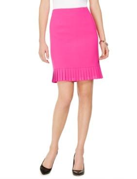 Kasper Petite Pleated Flounce Pencil Skirt